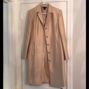 New Ann Taylor Silk Dress &Coat Gold Sz 10